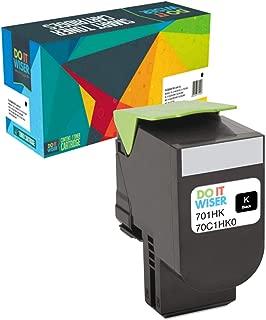 Do it Wiser Compatible Toner Cartridge Replacement for Lexmark 701HK CS310n CS310dn CS410n CS410dn CS410dtn CS510de CS510dte 70C1HK0 (4,000 Pages, Black)