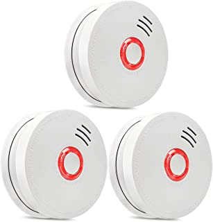 Smoke Detector,3 Packs Photoelectric Smoke Alarm Fire Alarm with Light Sound Warning 9V Battery (Included) Powered Fire Sa...