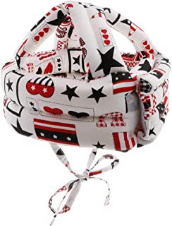 Dolity Toddler Adjustable Safety Helmet Headguard Protective Harnesses Hat Safety Caps for Walking & Crawling - Star A Pattern