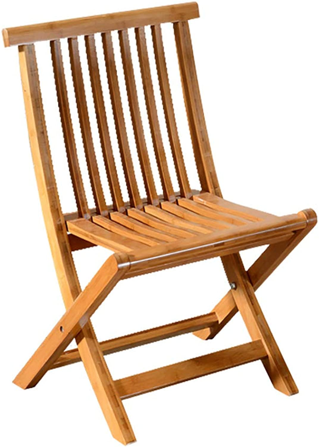 Folding Chair Bamboo Dining Chair Fishing Chair Portable Folding Chair with backrest (Size   35  25  58cm)