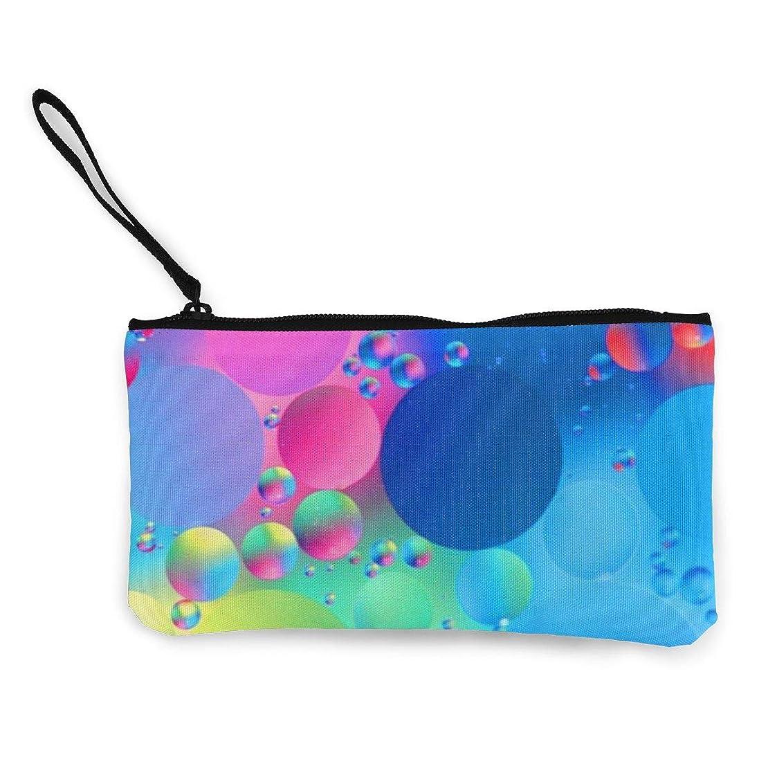 杖ポーズドライErmiCo レディース 小銭入れ キャンバス財布 要約 マクロ 反射 パターン 小遣い財布 財布 鍵 小物 充電器 収納 長財布 ファスナー付き 22×12cm