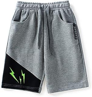 Rolanko Boys Athletic Shorts Jersey, Boys Basketball Shorts for Activewear Soccer SweatShorts Kids Summer Clothes (Grey Gr...