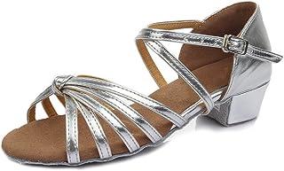 SWDZM Niñas Estándar de Zapatos de Baile Latino Ballroom modelo-ES-202