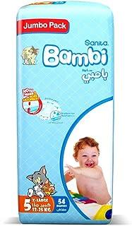 Sanita Bambi Baby Diapers Jumbo Pack Size 5, 13-25 Kg, 54 Count