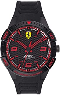 Ferrari Mens Quartz Watch, Analog Display and Silicone Strap 830662