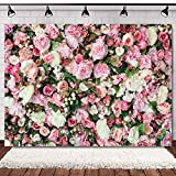 WOLADA Flower Backdrop Pink Floral Backdrops for Photography Girl Bridal Shower Wedding Birthday Party Banner Decor Supplies Photographers Photo Studio Props 7x5FT 11991