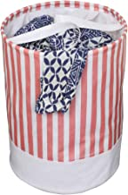 PrettyKrafts Canvas Laundry Bag, Toy Storage, Laundry Storage (45 L) - Pink