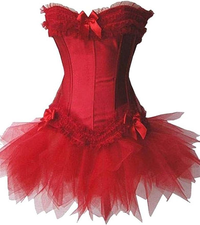 KUOSE Moulin Rouge Dentelle Vintage Lingerie Bustiers V/êtements Corset Robe S-6XL