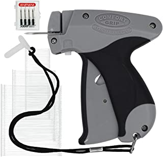 Amram Comfort Grip Tagging Gun for Clothing with 2500 Assorted Pieces of 1 Inch, 2 Inch and 3 Inch Attachments and 5 Needles; Standard Tagging Applications