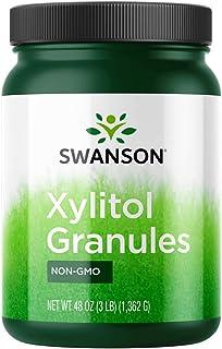 Swanson 100% Pure Non-GMO Xylitol Granules 48 Ounce (3 lbs) (1362 g) Granules