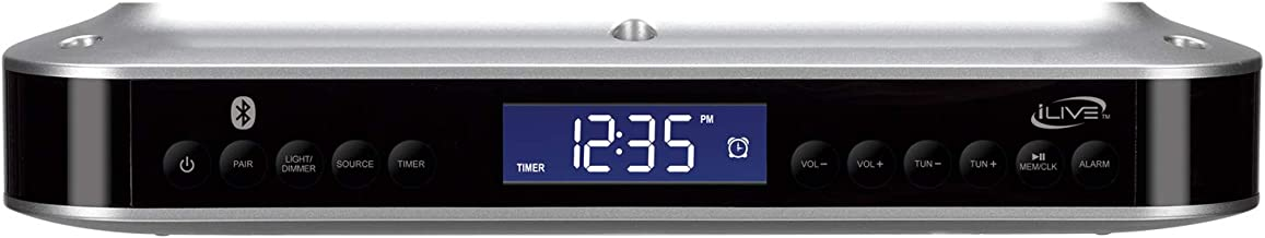 iLive Wireless Under Cabinet Bluetooth FM Radio, 9.09 X 7.32 X 2.44 Inches, Includes..