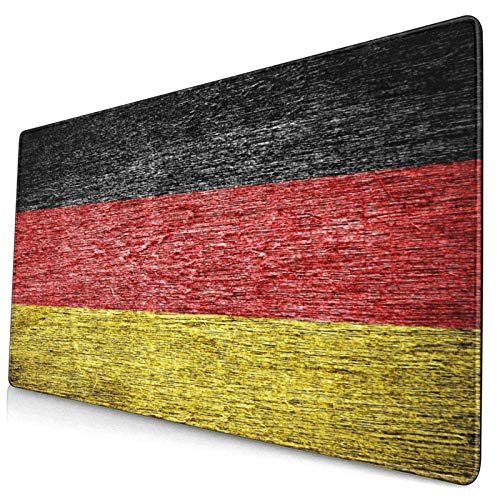 Nettes Mauspad ,Deutschland Deutsche Flagge auf altem Holz gemalt,Rechteckiges rutschfestes Gummi-Mauspad für den Desktop, Gamer-Schreibtischmatte, 15,8