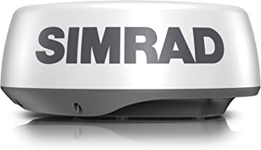 Simrad HALO20+ 36 NM 20-inch Pulse Compression Radar, 60 RPM, with Collision Avoidance and VelocityTrack, Dual Range Doppl...