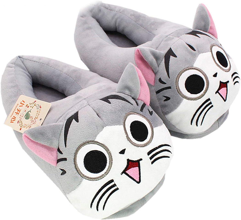 Nafanio Unisex Winter Boots Plush Slippers Cartoon Home Cute Memory Foam Warm Indoor Bedroom shoes