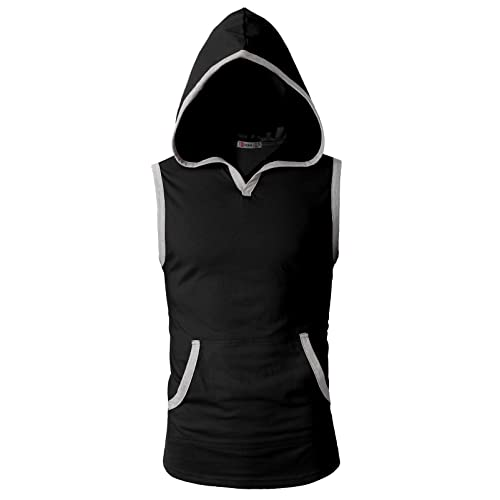 d513c2f93553d H2H Men s Casual Hoodie Tank Tops Sleeveless Shirts Gym Workout with Pockets