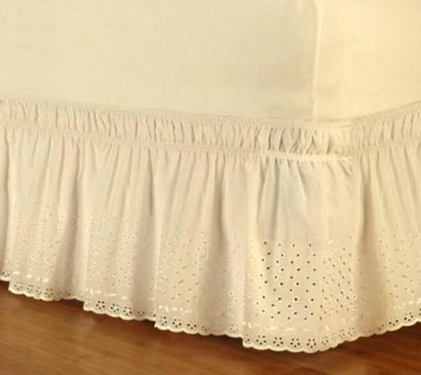 機関明日専門刺繍のベッド スカート,弾性 ポリエステル ベッドの周りをラップ 1 ベッドスカート, 耐フェード しわ 簡単なケア ベッドスカート- 180x200x38cm