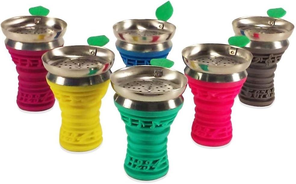 New BLUE 5 ☆ popular Silicone Aluminum Hookah Shisha H Bowl Fits Head Max 74% OFF Most