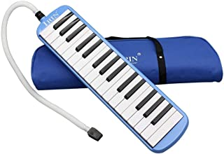 YueYueZou 32 Key Melodica Instrument with Mouthpiece Air Pia