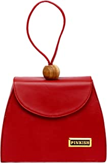 Pinkish Leatherette Handbags For Women's Ladies PK-Daily-031 PK-03 Brown