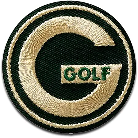 Golf Logo - Iron on Patches Adhesive Emblem Stickers Appliques, Size: 4,3 x 4,3 cm