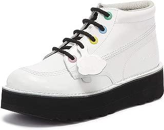 Kickers Kick Hi Stack Womens White Boots