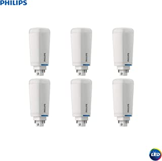 Philips 535377 LED Dimmable Energy Saver PL-C/T Light Bulb: 1200-Lumen, 2700-Kelvin, 10.5 (26-Watt Equivalent), 4-Pin G24Q/GX24Q Base, Frosted, Soft White, 6-Pack, 6 Piece