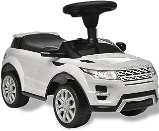 TDSPEU Coche de Juguete Blanco con música, Modelo Land Rover 348