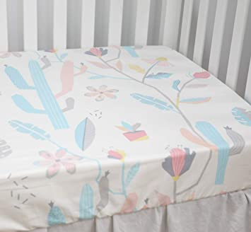 nursery bedding Full size crib sheetfloral Made to order custom fitted cotton crib sheet