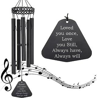 "ASTARIN Wind Chimes Outdoor Deep Tone,30"" Amazing Grace Wind Chimes Sympathy Memorial Wind Chimes with 5 Metal Tube for Ga..."