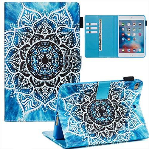 Careynoce iPad Mini 1/2/3/4/5 Funda,Tigre Gato Sol Panda Pattern PU Cuero Cover Stand Flip Funda Carcasas para iPad Mini 1/2/3/4/5 7.9' Tableta Funda - Mandala