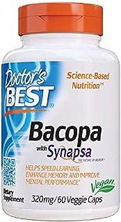 Doctor's Best Bacopa with Synapsa, Brain, Enhances Memory, Antioxidant, Non-GMO, Vegan, Gluten Free, Soy Free, 320 mg, 60 ...