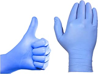 1 x 100 Box of Nitrile Hygienic Blue Latex-Free Powder-Free Surgical Anti-Bacterial Examination Disposable Gloves, Multi-Purpose Protection for PPE, First Aid and Sensitive Skin