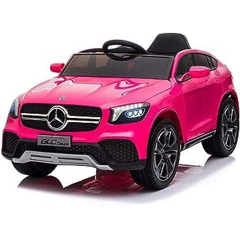 Mondial toys auto  elettrica 12v per bambini mercedes-benz glc coupè con sedile in pelle cintura di sicurezza GLC_pink