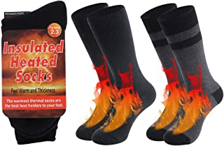 RTZAT Heavy Thermal Socks, Thick Insulated Cold Weather Crew Socks for Women and Men, 1/2 Pair