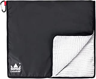 Craftsman Golf Waffle Pattern Rain Hood Towel w/Bulldog Logo with Free Carabiner Clip