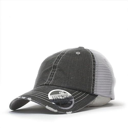 8ca5241237c Vintage Year Washed Cotton Low Profile Mesh Adjustable Trucker Baseball Cap