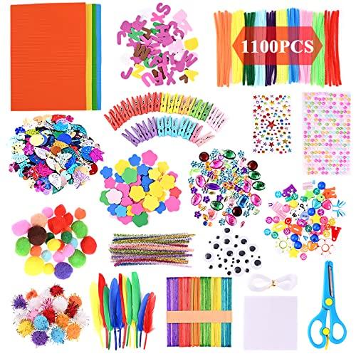 GOLDGE Kit de Manualidades para niños, Pipe Cleaners Crafts Set Pompones Ojos Manualidades Kit Crafts Set y Pipe Cheners para DIY Art Supplies Creativo Regalo Manualidades Labores para Niños