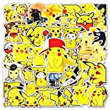 Pi-ka-chu Vinyl Sticker Pack| 54Pcs Aesthetic Cute Monster Animal Cartoon Stickers, Waterproof Sticker for Laptop Hydro Flasks Water Bottles Cup, Ideal Gift for Children Teens and Adults