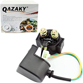 QAZAKY Starter Solenoid Relay Replacement for 50cc 70cc 90cc 110cc 125cc 150cc GY6 ATV Quad Scooter Go Kart Moped Chopper Pit Dirt Pocket Bike Kawasaki Chinese TaoTao Buyang Sunl Baja Roketa