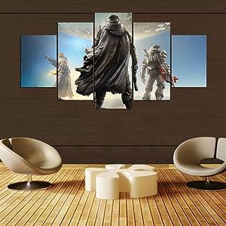 BOYH Prints On Canvas 5 Pieces Destiny Game 2 HD Modern Wall Art Printing Home Decorations