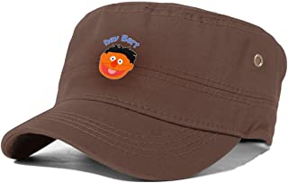 Hey Bert Basic Adult Flat Cap Adjustable Hat Black