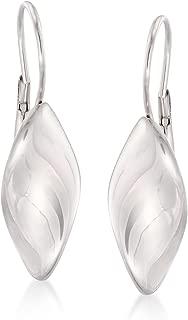 Italian Sterling Silver Twist Drop Earrings
