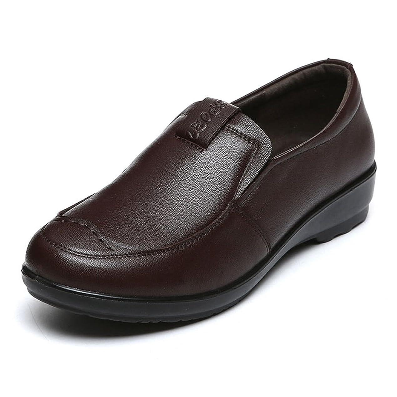 歯科医触覚傾向があります店舗]シニアシューズ レディース パンプス 婦人靴 黒/ワインレッド/ブラウン 21.5-26.5CM モカシン 小さいサイズから大きいサイズまで 介護シューズ 軽量 歩きやすい 柔らかい 抗菌 母へのギフト お出かけ 散歩 四季
