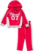 iGirldress Infant/Toddler/Girls Fleece Track Suit Hooded Jacket and Jogger Pants Two-Piece Set