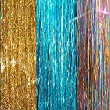 40' Sparkling Fairy Hair, 300 Strands - Sparkling Gold, Shiny Turquoise, Shiny Rainbow