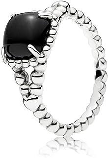 خاتم فضي (فضة خالصة عيار 925) للنساء من باندورا، مُزين بالكريستال، 52 EU - 197188NCK-52