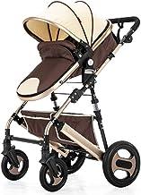 TINGYIN El Marco Ligero de Dos vías de Alta Plegable Paisaje Triángulo del Cochecito de niño Adecuado para 0-3 años recién Nacidos - Silla de Paseo