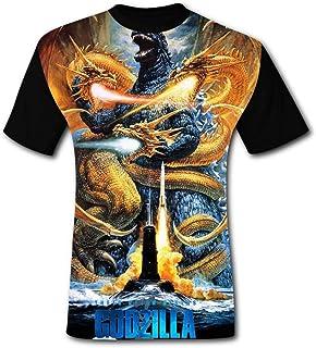 Unisex Mens Godzilla King of The Monsters 2019 3D Print T-Shirt Short Sleeves Tee Creative