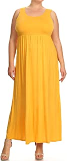 Modern Kiwi Women's Plus Size Danai Casual Sleeveless Tank Top Maxi Dress