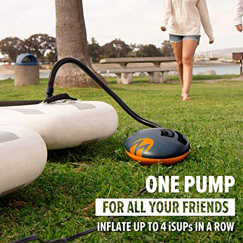 OutdoorMaster Shark High Pressure SUP Pump - Electric Air Pump with 20 PSI Active Cooling System Dual Stage Inflation & Auto-Off for Inflatable Paddle Board, Boats, Water Sports Inflatables -2nd Gen